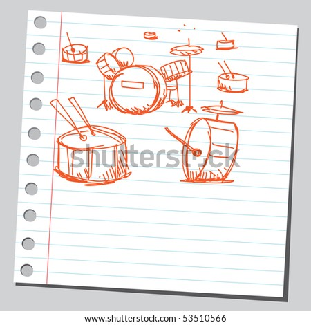 Scribble drums