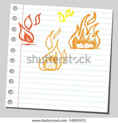 Scribble fire