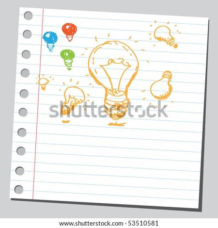 Scribble flashbulbs - stock vector