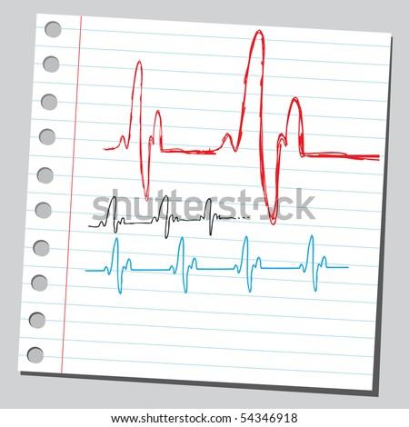 Scribble heart beats