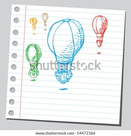 Scribble hot air balloon
