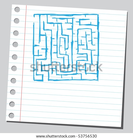 Scribble labyrinth - stock vector