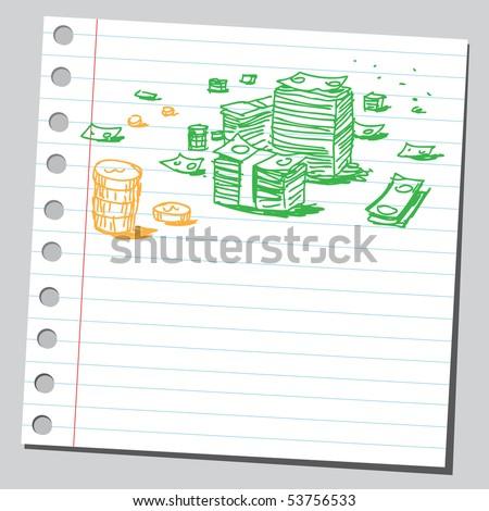 Scribble money