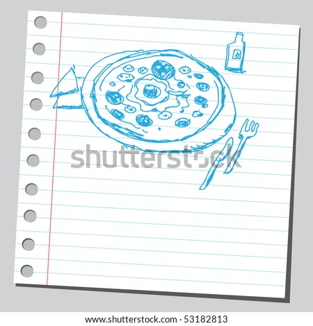Scribble pizza drawing