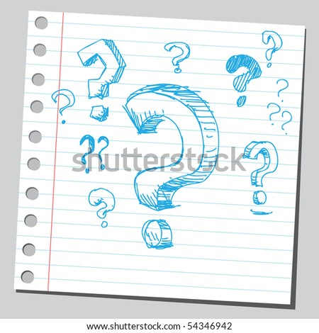 Scribble question marks