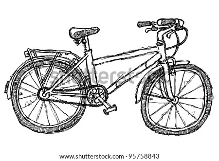 scribble series - bicycle