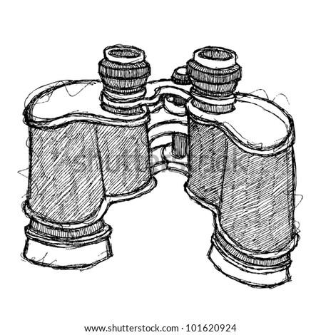 scribble series - binoculars