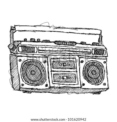 scribble series - boombox