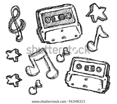 scribble series - cassette