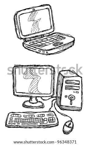 scribble series - computers
