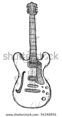 scribble series - guitar