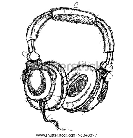 scribble series - headphones