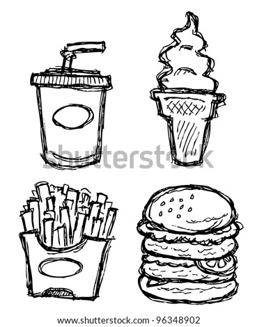 scribble series - junk food