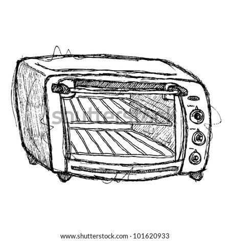 scribble series - oven