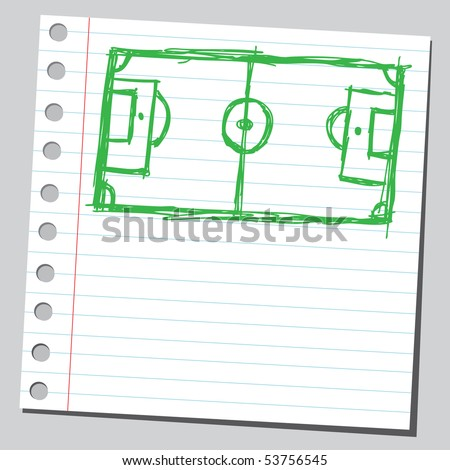 Scribble soccer-field