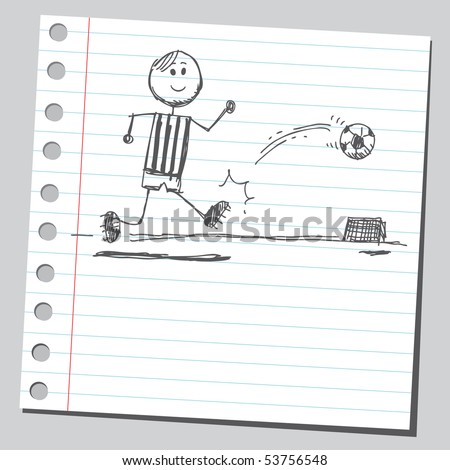 Scribble soccer-player