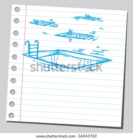 Scribble swimming pools