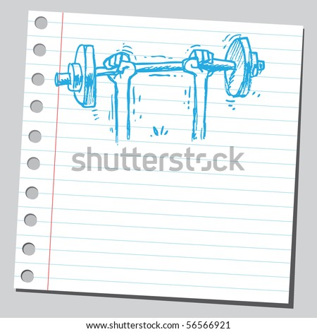 Scribble weight lifting