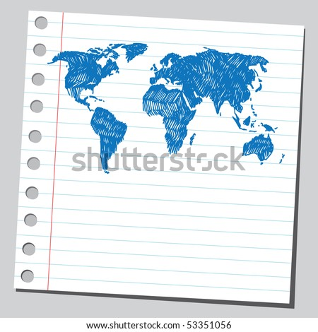 Scribble world map