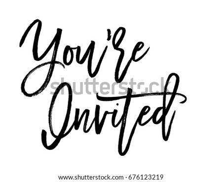 Script text wedding sign for your are invited