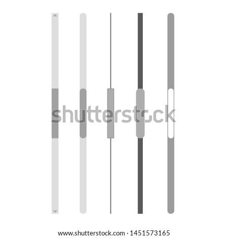 Scroll bars set vector. Navigation
