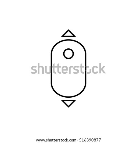 Scroll down computer mouse icon. - vector illustration.