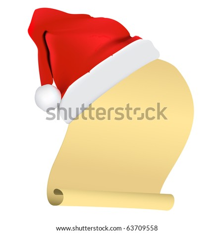 scroll paper christmas vector