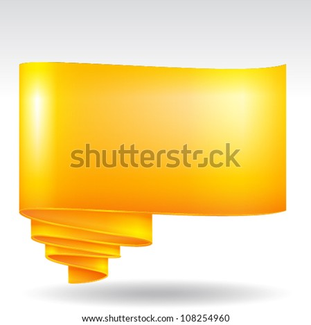 Scroll paper label background, EPS 10 vector
