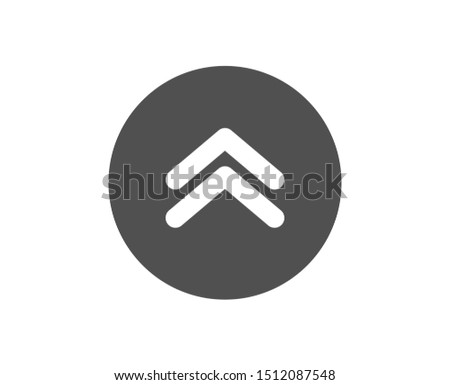Scrolling arrow sign. Swipe up button icon. Landing page scroll symbol. Classic flat style. Simple swipe up icon. Vector