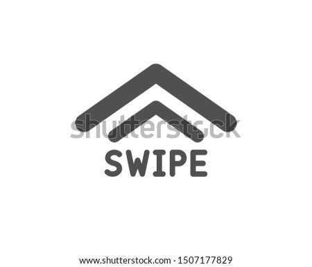 Scrolling arrow sign. Swipe up icon. Landing page scroll symbol. Classic flat style. Simple swipe up icon. Vector