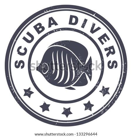 scuba divers stamp
