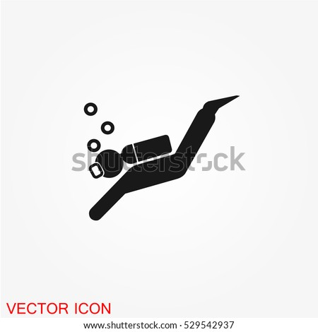 scuba diving icon vector