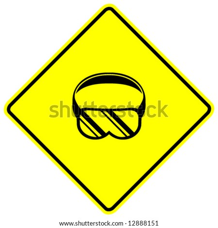 Goggles Vector Goggles Sign Stock Vector