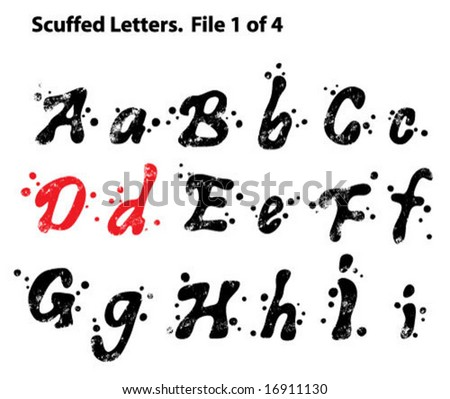 Scuffed Letters 1 of 4