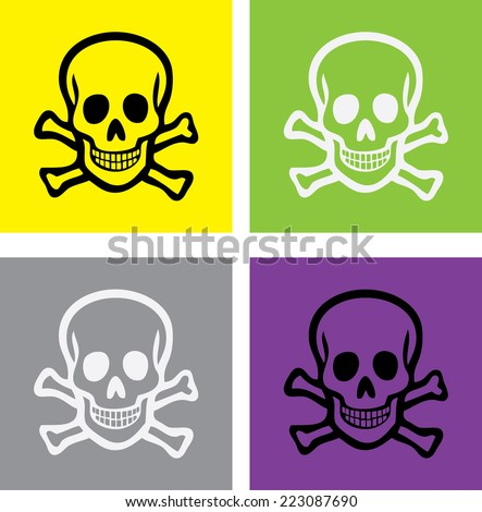 scull and bones isolated icons