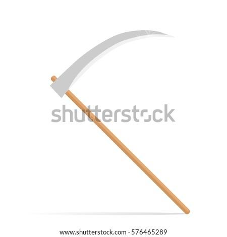 scythe vector illustration