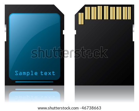 SD card - stock vector