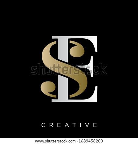 se logo design vector icon symbol Foto stock ©