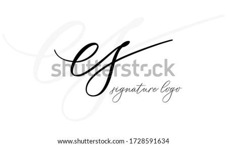 SE or ES initial logo template vector illustration  Foto stock ©