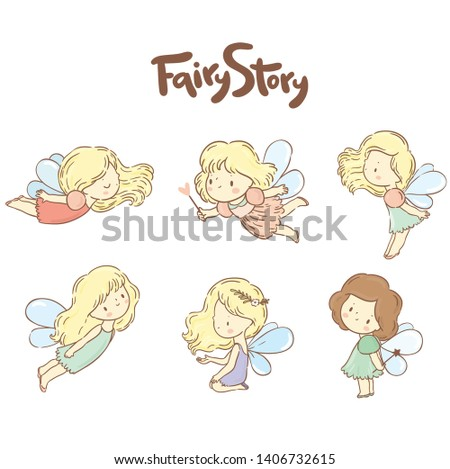 Se with cute little fairy/ fairy collection