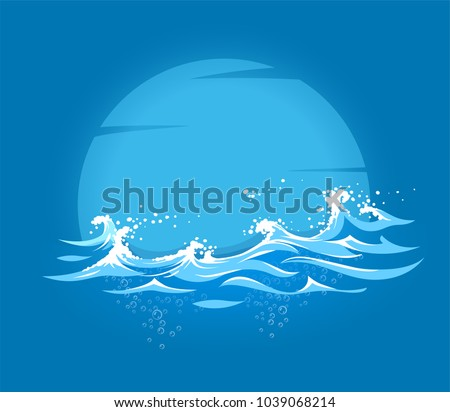 sea and ocean marine waves with