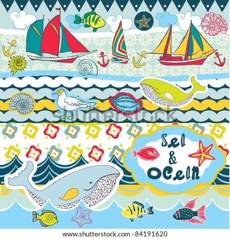 sea and ocean scrapbook