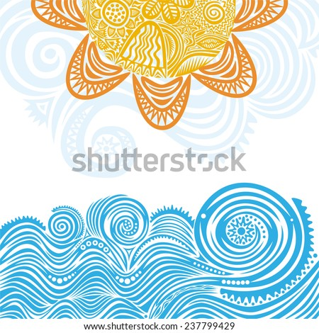 sea and sun nature pattern