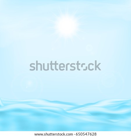 sea and the sun eps10 vector