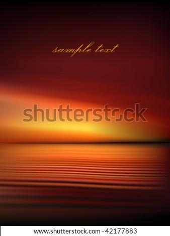 sea at dusk   vector