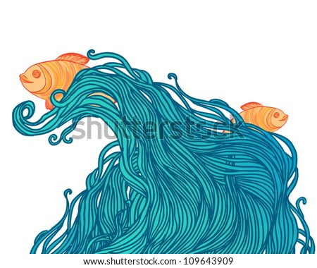 sea background for design with