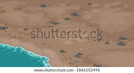 sea beach and wasteland with