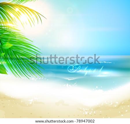 sea beach for summer design eps