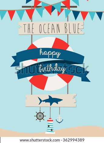 sea birthday card