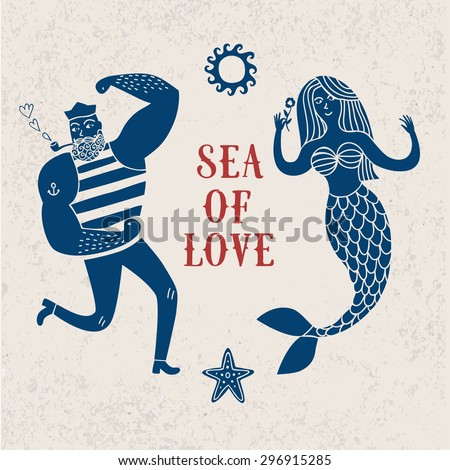 sea cartoon illustration with
